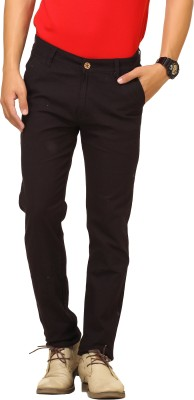 Cottinfab Regular Fit Men's Black Trousers