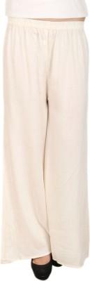C/Cotton Comfort Regular Fit Women's White Trousers