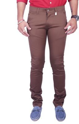 Rusty Cooper Regular Fit Men's Brown Trousers