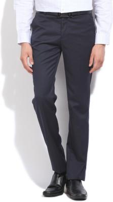 LAWMAN Slim Fit Men's Blue Trousers