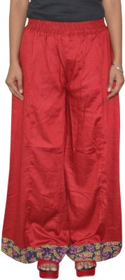 Pezzava Regular Fit Women's Red, Blue Trousers