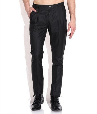 Shiksha Slim Fit Men's Black Trousers