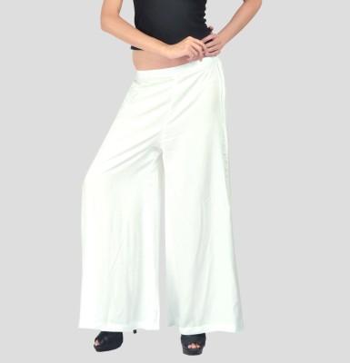 Belinda Regular Fit Women's White Trousers at flipkart