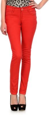Yepme Slim Fit Women's Red Trousers at flipkart