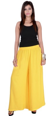 Pink Stone Regular Fit Women's Yellow Trousers
