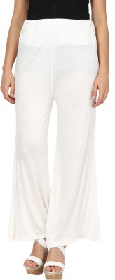 Sakhi Sang Regular Fit Women's White Trousers