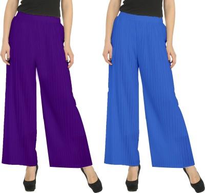 Civilized Showdown Regular Fit Women's Purple, Blue Trousers