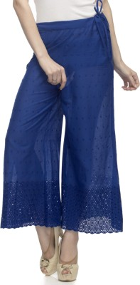 One Femme Regular Fit Women's Dark Blue Trousers