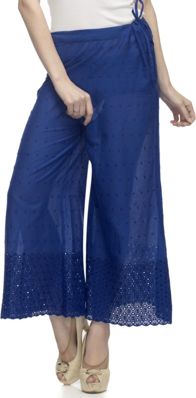One Femme Regular Fit Women's Dark Blue Trousers