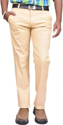 American Noti Slim Fit Mens Beige Trousers