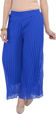 Soundarya Regular Fit Womens Blue Trousers