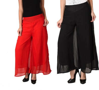 2Day Regular Fit Women's Red, Black Trousers