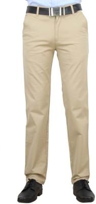 F FASHIONSTYLUS Regular Fit Men's Beige Trousers