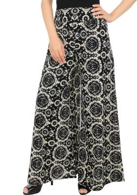 Desi Weaves Regular Fit Women's Black Trousers