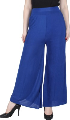 Broadstar Regular Fit Womens Blue Trousers