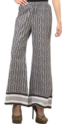 Cottinfab Regular Fit Women's Black, White Trousers at flipkart