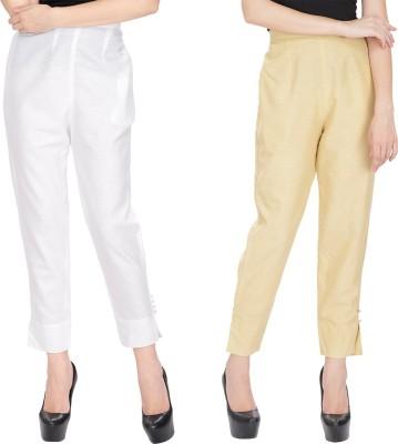 Alicolours Slim Fit Women's Beige Trousers