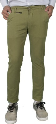 Made In The Shade Slim Fit Men's Green Trousers