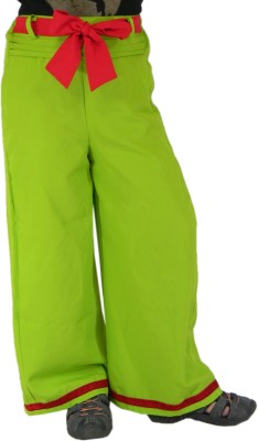 SSMITN Regular Fit Girls Green Trousers