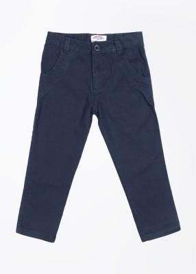 Nauti Nati Regular Fit Boy's Dark Blue Trousers