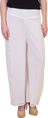 Damsel Regular Fit Women's White Trousers