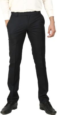 Follow Up Regular Fit Men's Black Trousers