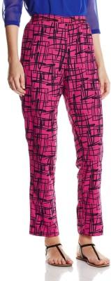Atayant Regular Fit Women's Pink, Black Trousers