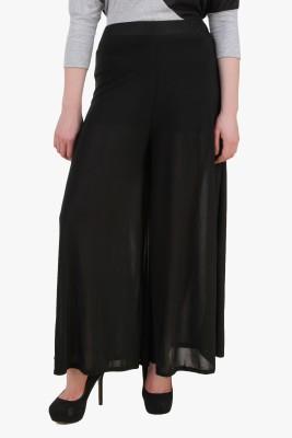 Modattire Regular Fit Women's Black Trousers