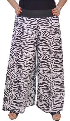 Saree Sparkle Regular Fit Women's White, Black Trousers