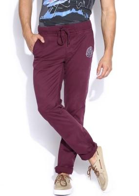 Kook N Keech Marvel Regular Fit Men's Purple Trousers