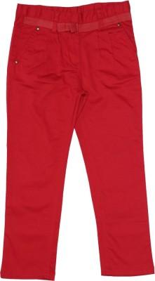 Elle Regular Fit Girl's Red Trousers
