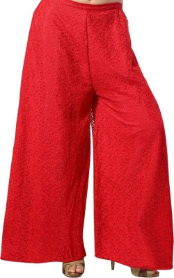 TheShoppingDiary Regular Fit Women's Red Trousers