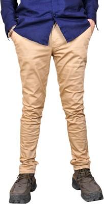 Front Look Slim Fit Men's Beige Trousers