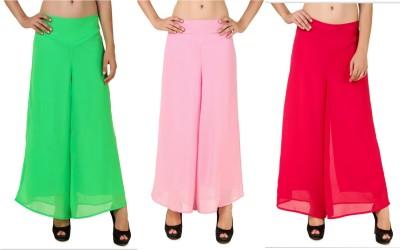 RoseBella Regular Fit Women's Green, Pink Trousers