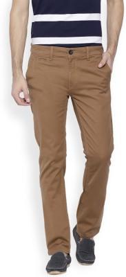 OFFLINE Slim Fit Men's Beige Trousers