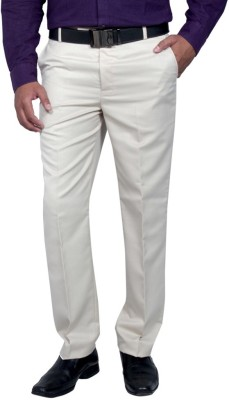 RICH PERK Regular Fit Men's Cream Trousers