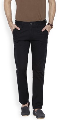 OFFLINE Slim Fit Men,s Black Trousers