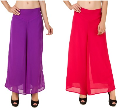 CHIKFAB Regular Fit Women's Purple, Pink Trousers