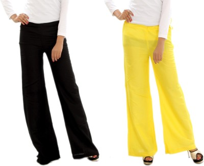 MountainColours Regular Fit Women's Black, Yellow Trousers