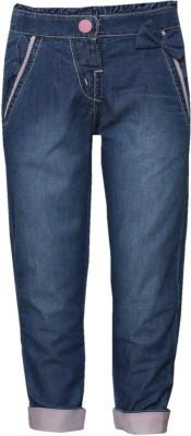 Tales & Stories Slim Fit Girl's Denim Light Blue Trousers