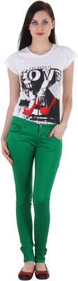 SLS Slim Fit Women's Green Jeans