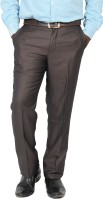 Value Attire Regular Fit Mens Brown Trousers