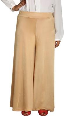 Shahfali Regular Fit Women's Gold Trousers