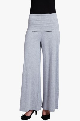 PNY Regular Fit Women's Grey Trousers