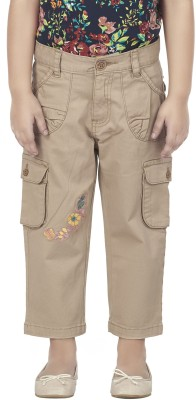 SuperYoung Slim Fit Girl's Brown Trousers