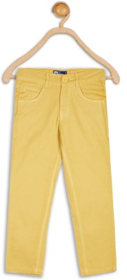 612 League Slim Fit Boys Yellow Trousers