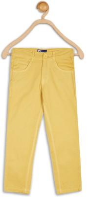 612 League Slim Fit Boy's Yellow Trousers