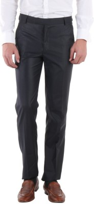 Routeen Slim Fit Men,s Blue Trousers