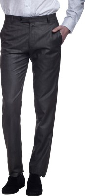 DIVINI Slim Fit Men's Brown Trousers