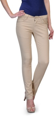 Fashion Cult Slim Fit Women's Beige Trousers at flipkart